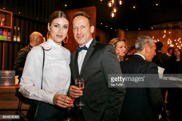 German actor Wotan Wilke Moehring and his girlfriend Cosima Lohse attend the Audi Lounge Night Audi At The 67th Berlinale International Film Festival...