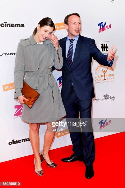 German actor Wotan Wilke Moehring and his girlfriend Cosima Lohse attend the Jupiter Award at Cafe Moskau on March 29 2017 in Berlin Germany