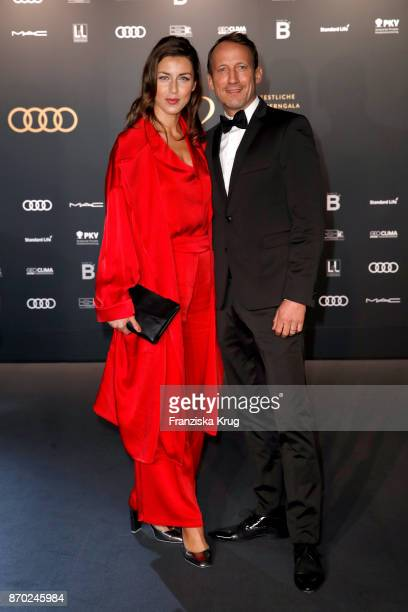 German actor Wotan Wilke Moehring and his girlfriend Cosima Lohse attend the 24th Opera Gala at Deutsche Oper Berlin on November 4 2017 in Berlin...