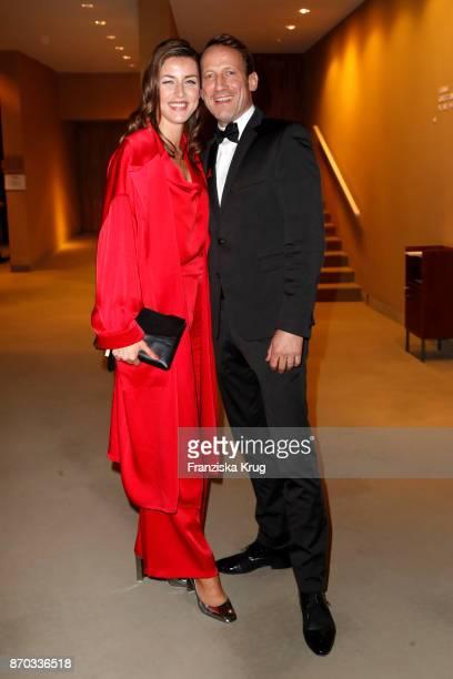 German actor Wotan Wilke Moehring and his girlfriend Cosima Lohse during the 24th Opera Gala at Deutsche Oper Berlin on November 4, 2017 in Berlin,...