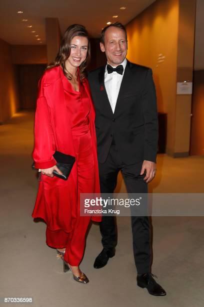 German actor Wotan Wilke Moehring and his girlfriend Cosima Lohse during the 24th Opera Gala at Deutsche Oper Berlin on November 4 2017 in Berlin...