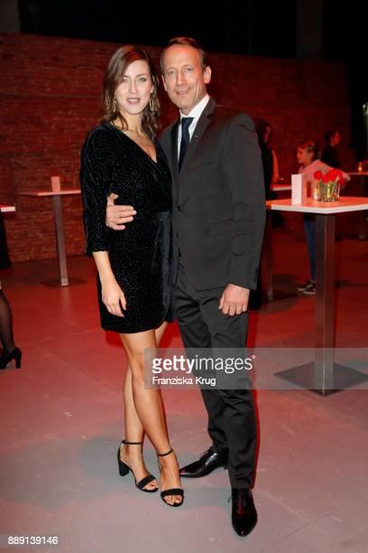 German actor Wotan Wilke Moehring and his partner Cosima Lohse attend the Ein Herz Fuer Kinder Gala reception at Studio Berlin Adlershof on December...