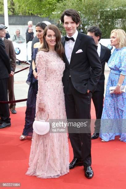 German actors Alice Dwyer and Sabin Tambrea attend the Lola German Film Award red carpet at Messe Berlin on April 27 2018 in Berlin Germany