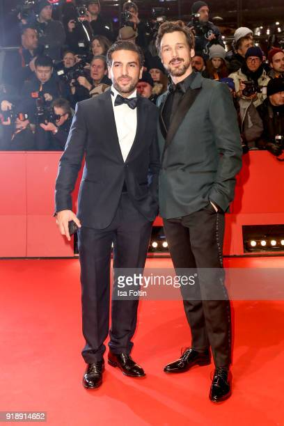 German actors Elyas M'Barek and Florian David Fitz attend the Opening Ceremony 'Isle of Dogs' premiere during the 68th Berlinale International Film...