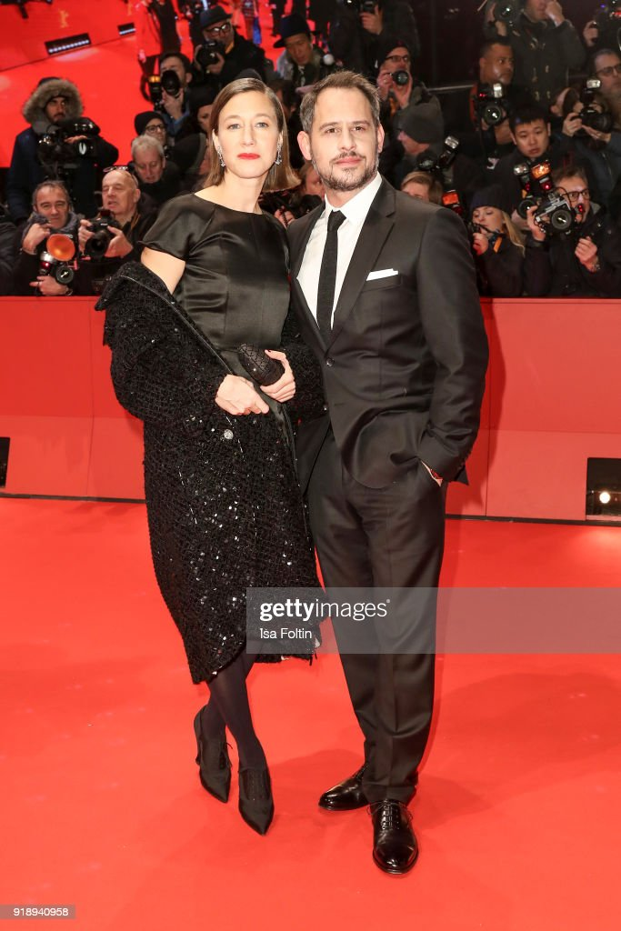 German actors Johanna Wokalek and Moritz Bleibtreu attend the Opening Ceremony & 'Isle of Dogs' premiere during the 68th Berlinale International Film Festival Berlin at Berlinale Palace on February 15, 2018 in Berlin, Germany.
