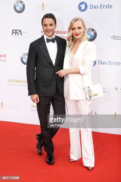 German actors Kostja Ullmann and Janin Ullmann attend the Lola German Film Award red carpet at Messe Berlin on April 27 2018 in Berlin Germany
