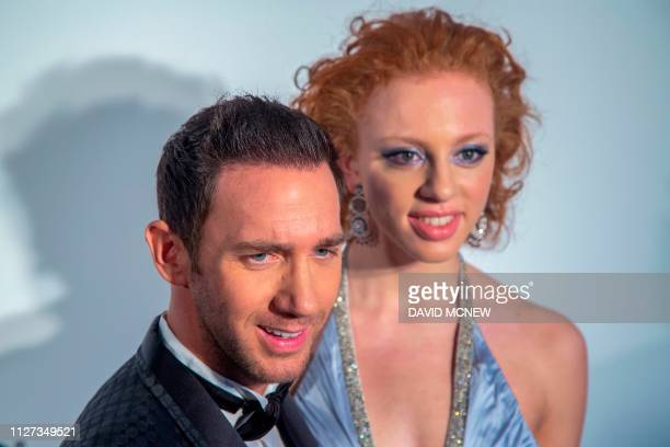 German actors Marcel Remus and Anna Ermakowa arrive to attend the Elton John AIDS Foundation Academy Awards Viewing Party in West Hollywood...
