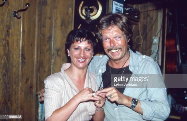 German actors Margot Mahler and Marius Aicher, Germany, 1970s.
