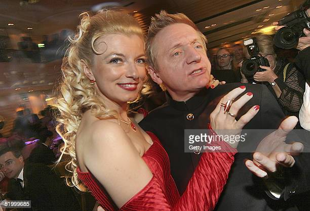 German actors Michaela Merten and her Husband Pierre Franckh are dancing during the Bavarian Film Awards Ball following yesterday's Awards, at Hotel...