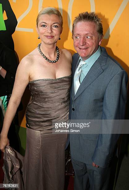German actors Michaela Merten and her Husband Pierre Franckh arrive for the annual Corine awards on September 16 2007 in Munich Germany The Corine...