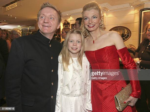 German actors Michaela Merten, Husband Pierre Franckh and common child attend the Bavarian Film Awards Ball following yesterday's Awards, at Hotel...