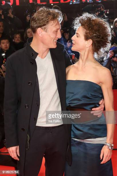 German actors Oliver Masucci and Bibiana Beglau attend the Opening Ceremony 'Isle of Dogs' premiere during the 68th Berlinale International Film...