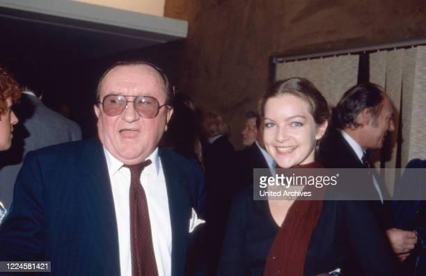 German actors Siegfried Lowitz and Dietlinde Turban Germany 1980s