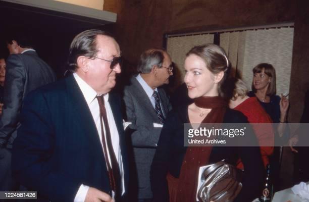 German actors Siegfried Lowitz and Dietlinde Turban, Germany, 1980s.