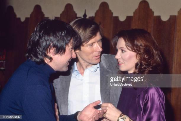German actors Stefan Behrens, Horst Janson and Iris Berben, Germany, 1980s.