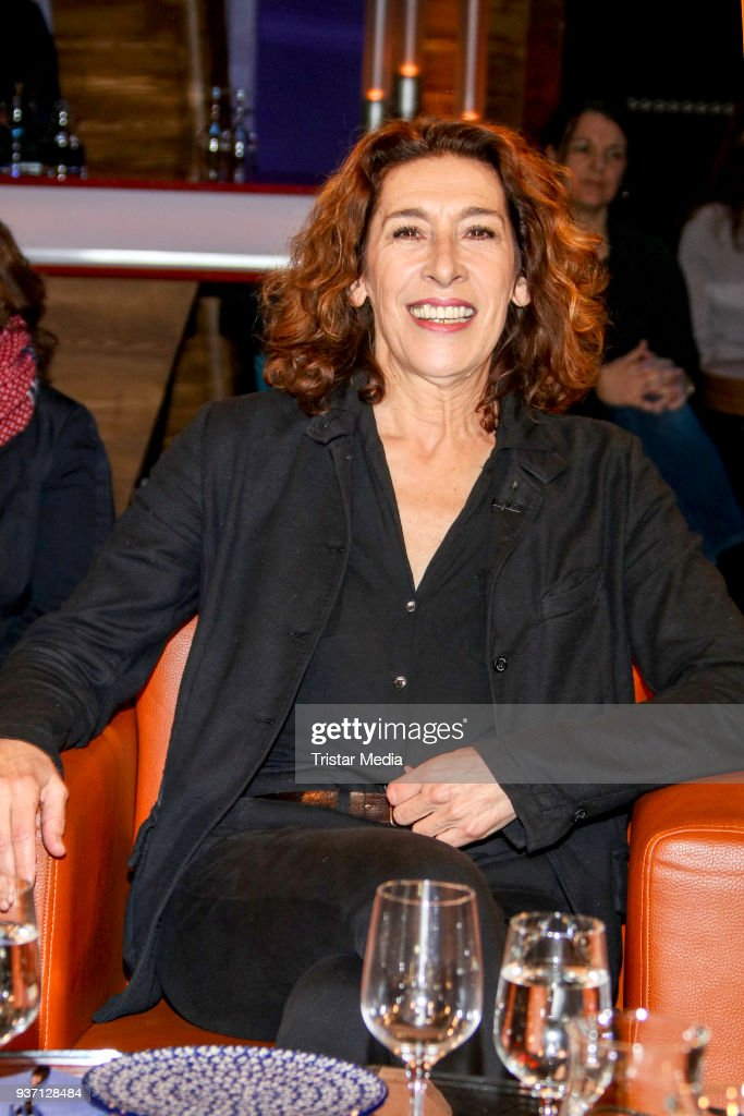 German actress Adele Neuhauser during the NDR Talk Show on March 23, 2018 in Hamburg, Germany.