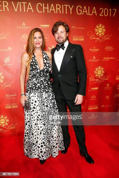 German actress Alexandra Kamp and her partner photographer Michael von Hassel attend the 8th VITA Charity Gala on October 28 2017 in Wiesbaden Germany