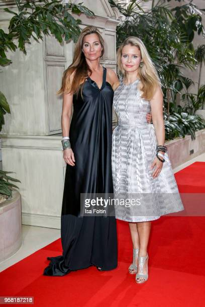 German actress Alexandra Kamp and her sister Patrizia Kamp attend the Felix Burda Award at Hotel Adlon on May 13 2018 in Berlin Germany