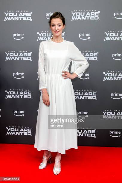 German actress Alexandra Maria Lara attends the premiere of the second season of 'You are wanted' at Filmtheater am Friedrichshain on May 16 2018 in...