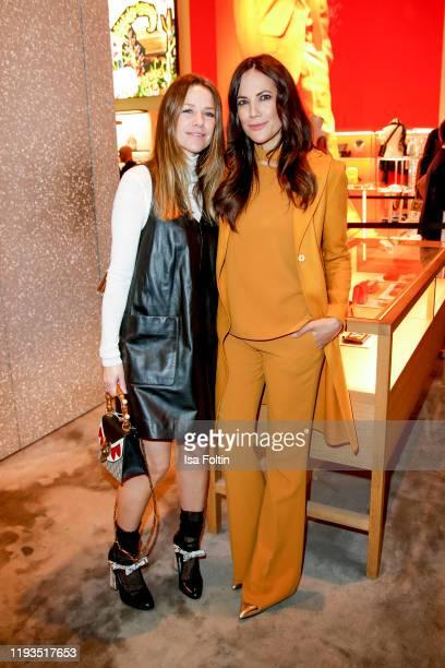 German actress Alexandra Neldel and German actress Bettina Zimmermannat the KaDeWe Grand Opening event at KaDeWe on December 10, 2019 in Berlin,...