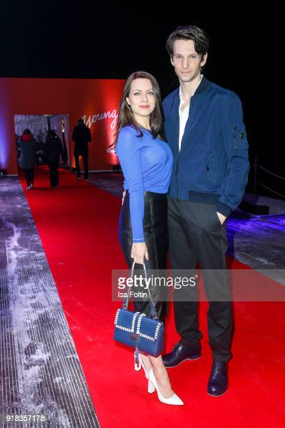 German actress Alice Dwyer and German actor Sabin Tambrea attend the Young ICONs Award in cooperation with ICONIST at BRLO Brwhouse on February 14...