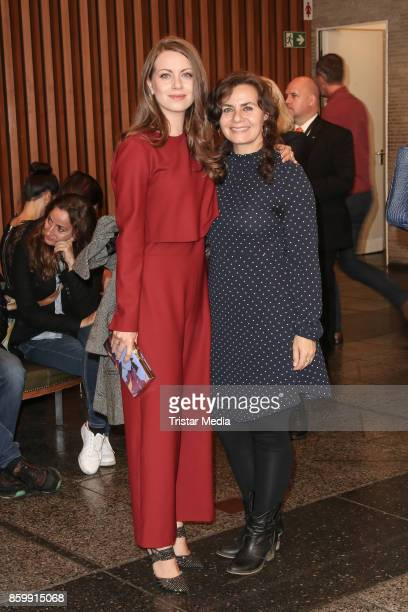 German actress Alice Dwyer and German actress Naomi Krauss attend the 'Die Unsichtbaren' Premiere at Kino International on October 10 2017 in Berlin...