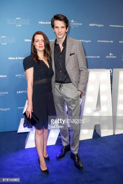 German actress Alice Dwyer and her boyfriend Ferman actor Sabin Tambrea attend the Blue Hour Reception hosted by ARD during the 68th Berlinale...