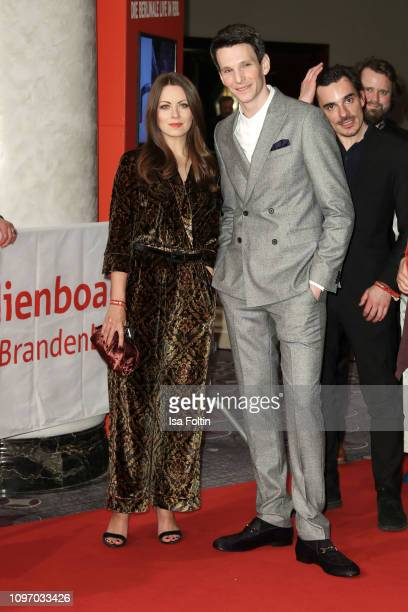 German actress Alice Dwyer and her boyfriend German actor Sabin Tambrea attend the Medienboard BerlinBrandenburg Reception on the occasion of the...