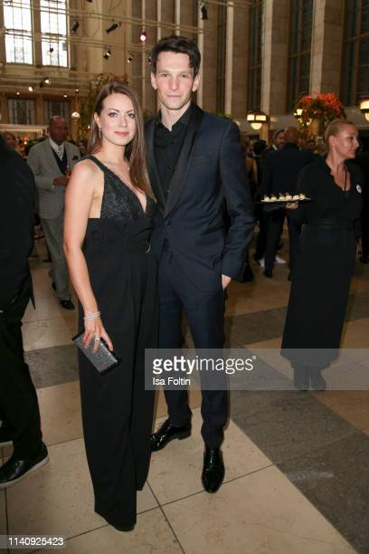 German actress Alice Dwyer and her boyfriend German actor Sabin Tambrea attend the Lola German Film Award reception at Palais am Funkturm on May 3...