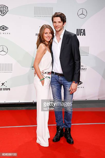 German actress Alice Dwyer and her boyfriend german actor Sabin Tambrea attend the First Steps Awards 2016 at Stage Theater on September 19 2016 in...