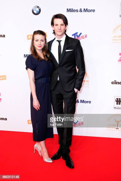 German actress Alice Dwyer and her boyfriend german actor Sabin Tambrea attend the Jupiter Award at Cafe Moskau on March 29 2017 in Berlin Germany