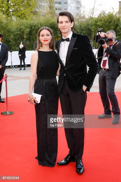 German actress Alice Dwyer and her boyfriend german actor Sabin Tambrea during the Lola German Film Award red carpet arrivals at Messe Berlin on...