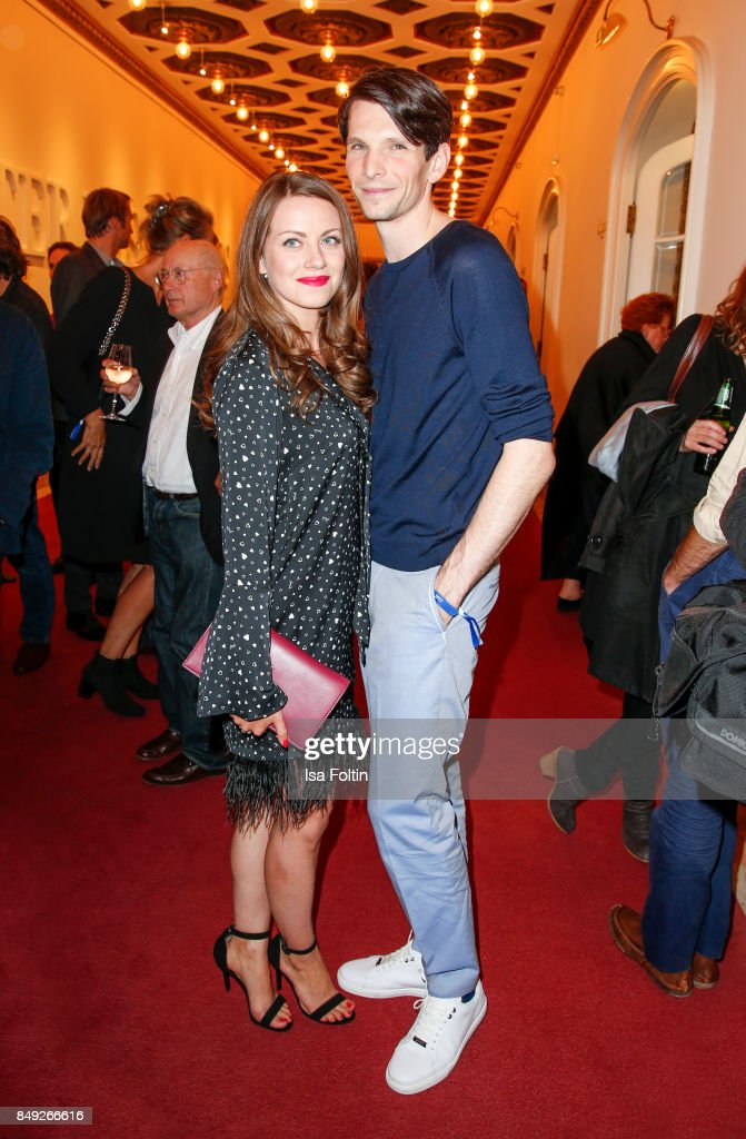German actress Alice Dwyer and her boyfriend German actor Sabin Tambrea attend the First Steps Awards 2017 at Stage Theater on September 18, 2017 in Berlin, Germany.