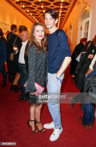 German actress Alice Dwyer and her boyfriend German actor Sabin Tambrea attend the First Steps Awards 2017 at Stage Theater on September 18 2017 in...