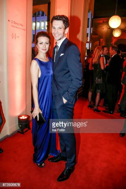 German actress Alice Dwyer and her boyfriend German actor Sabin Tambrea attend the GQ Men of the year Award 2017 after show party at Komische Oper on...