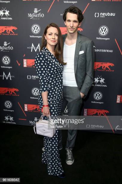 German actress Alice Dwyer and her boyfriend German actor Sabin Tambrea attend the New Faces Award Film at Spindler Klatt on April 26 2018 in Berlin...
