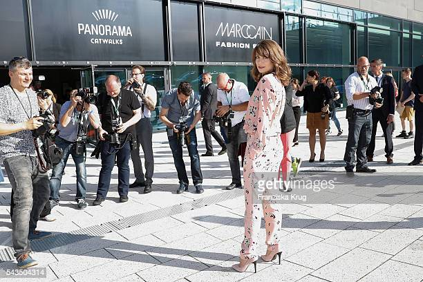 German actress Alice Dwyer attends the Marc Cain show spring/summer 2017 at CITY CUBE Panorama Bar on June 28 2016 in Berlin Germany