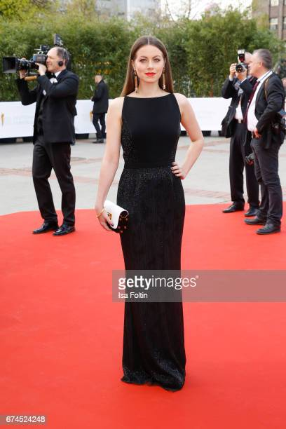 German actress Alice Dwyer during the Lola German Film Award red carpet arrivals at Messe Berlin on April 28 2017 in Berlin Germany