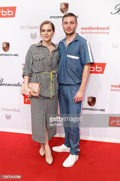 German actress Alicia von Rittberg and German actor Jannick Schuemann attend the Medienboard Berlin-Brandenburg Reception on the occasion of the 69th...