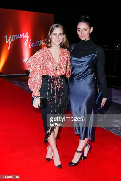 German actress Alicia von Rittberg and German actress Maria Ehrich attend the Young ICONs Award in cooperation with ICONIST at BRLO Brwhouse on...