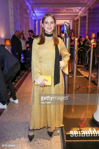 German actress Alicia von Rittberg attends the Blue Hour Reception hosted by ARD during the 68th Berlinale International Film Festival Berlin on...