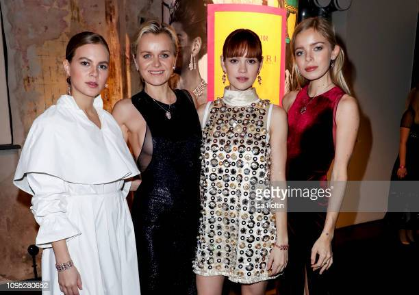 German actress Alicia von Rittberg Barbara Sturm German actress Emilia Schuele and Charly Sturm during the Bulgari party with the motto...