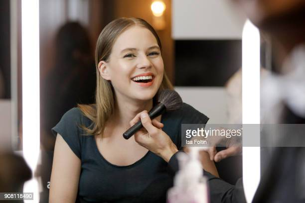 German actress Alicia von Rittberg during the Burda Style Lounge on the occasion of the German Film Ball on January 20 2018 in Munich Germany