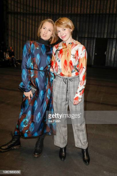 German actress Alina Levshin and German actress Anna Brueggemann attend the Odeeh Defile during the Berlin Fashion Week Autumn/Winter 2019 at Haus...