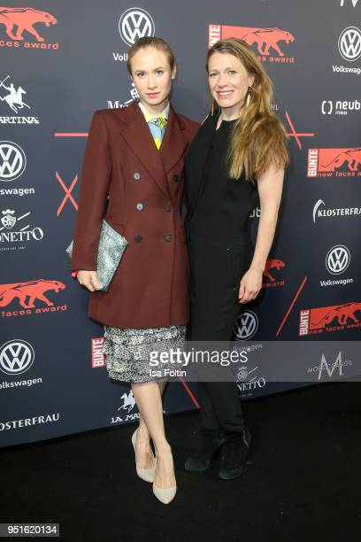 German actress Alina Levshin and German actress Rebecca Rudolph attend the New Faces Award Film at Spindler Klatt on April 26 2018 in Berlin Germany