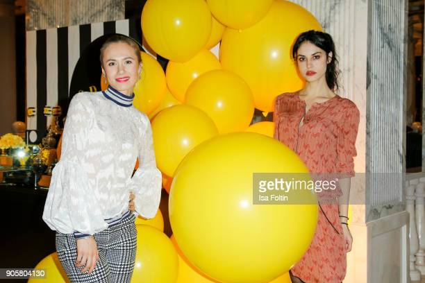 German actress Alina Levshin and German actress Violetta Schurawlow during the Grazia Fashion Dinner at Titanic Deluxe Hotel on January 16 2018 in...