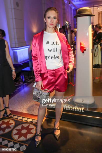 German actress Alina Levshin attends the Blue Hour Reception hosted by ARD during the 68th Berlinale International Film Festival Berlin on February...
