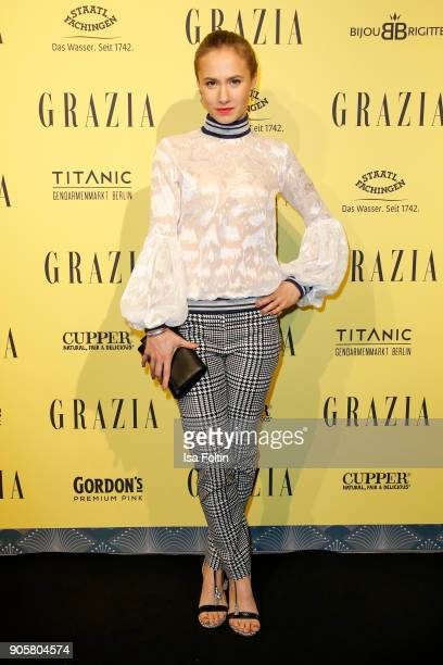 German actress Alina Levshin attends the Grazia Fashion Dinner at Titanic Deluxe Hotel on January 16 2018 in Berlin Germany