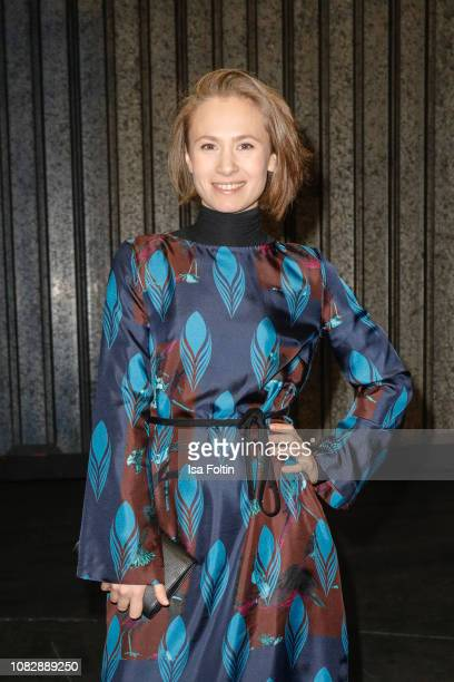 German actress Alina Levshin attends the Odeeh Defile during the Berlin Fashion Week Autumn/Winter 2019 at Haus Der Berliner Festspiele on January 14...