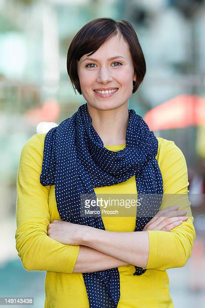 German actress Alina Levshin poses for the camera after being announced as member of the new Thueringen Tatort crew on July 23 2012 in Munich Germany